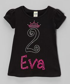 Birthday darlings will feel extra special skipping down the sidewalk in this personalized tee. It earns serious style points with its puff-sleeve silhouette and shimmery design.