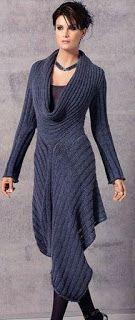 Tina's handicraft : asymetric knitting pullover