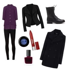 """""""Sherlock Holmes"""" by epicchocolate512 ❤ liked on Polyvore featuring AG Adriano Goldschmied, Manon Baptiste, Donna Karan, A.P.C., Revlon, RGB Cosmetics and Stila"""