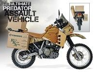 Looking to put the hurt on some predators this year? Check out the custom-built ultimate predator assault vehicle. Motorcycle Equipment, Enduro Motorcycle, Motorcycle Travel, Bmw Motorcycles, Motorcycle Types, Klr 650, Honda, Off Road Bikes, Dual Sport