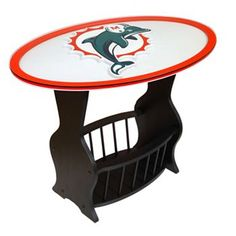 Miami Dolphins End Table...perfect for a man cave