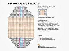 bag chart - also see Keito Dama bag pattern accessories bag Crochet Tote, Crochet Handbags, Crochet Purses, Crochet Chart, Love Crochet, Diy Crochet, Crochet Patterns, Patchwork Bags, Knitted Bags