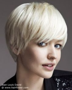 Short bob with feathered cutting lines.