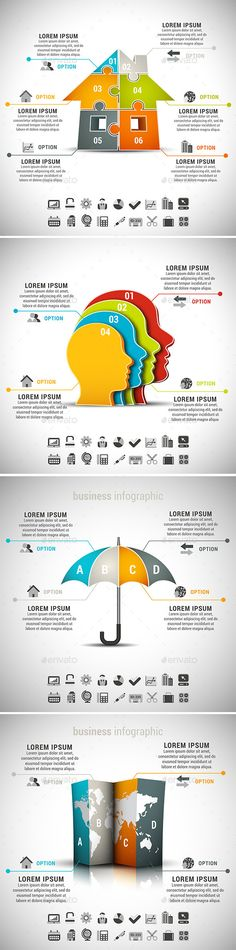 4 in 1 Business Infographics Bundle Template #design Download: http://graphicriver.net/item/4-in-1-business-infographics-bundle/10617252?ref=ksioks