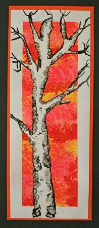 Check out student artwork posted to Artsonia from the Negative Space Birch Tree project gallery at Alum Creek Elementary School. Fall Art Projects, School Art Projects, Autumn Art, Winter Art, 6th Grade Art, Fourth Grade, Ecole Art, Art Curriculum, Middle School Art