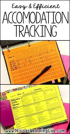 Tracking accommodations and modifications for special education teachers.