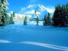 Timberline Lodge, Mt Hood, Oregon- haven't gone since I was a teen even though I pass the exit a lot.  Would love to go again!