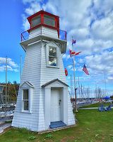The Old Lighthouse, in Oakville Ontario built in 1875 and moved from the east pier and restored in 1960.