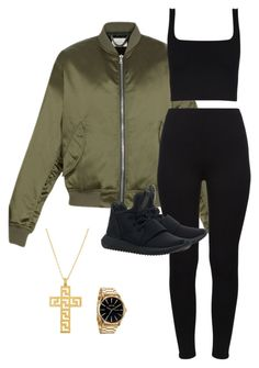 """Untitled #445"" by gabririixx ❤ liked on Polyvore featuring Nixon and adidas Originals"