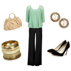 Business Casual, created by becca-1290 on Polyvore  Wish I had this outfit for Saturday night!