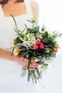 Lately, I've been obsessed with the idea of vegetables in bouquets and arrangements. Not only are they brightly colored and inexpensive, but the shapes and textures make such a gorgeous addition to your standard bouquet. I asked my florist friend,Anne of Fleurish CA, to come to the studio and help us put one together. Over …
