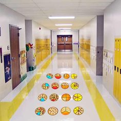 Give your kids regular brain breaks to jump around with removable and colorful floor decals. Create your own games or have kids place them where they want Floor Decal, Floor Stickers, Pizza Fractions, School Hallways, Activity Room, Self Regulation, Brain Breaks, Tight Budget, Children's Place