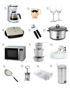Bare Essentials for your First College Apartment - need to keep these in mind for our new casa