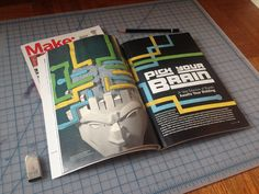 Make: Magazine Editorial Illustration by Book Williams Jr.