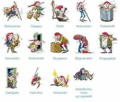 """Icelandic Christmas tricksters.  They don't have """"Santa Claus""""... Just these naughty elves!"""