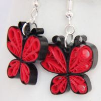Make Your Own Paper Quilled Butterfly Earrings  and many other quilling tutorials.  website: honeysquilling.com