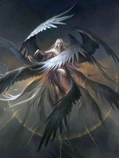 DIY Diamond Painting Angel Wings Mosaic Cross Stitch Full Square Drill Diamond Painting kit St Digital Art b. Fantasy Artwork, Character Art, Character Design, Angel Warrior, Ange Demon, Fantasy Kunst, Angels And Demons, Angel Art, Mythical Creatures