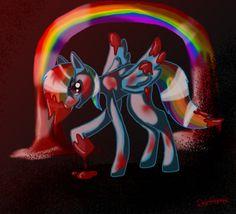 Rainbow Factory by DahFlame on DeviantArt Mlp Creepypasta, You Have Beautiful Eyes, Chihiro Y Haku, Criminal Record, Creepy Pasta, My Little Pony Friendship, Rainbow Dash, My Ride, Cool Things To Make