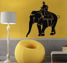 Wall Decals Vinyl Decal Sticker Art Mural India Decor Indian Elephant Lord Kj586 #STICKALZ #MuralArtDecals