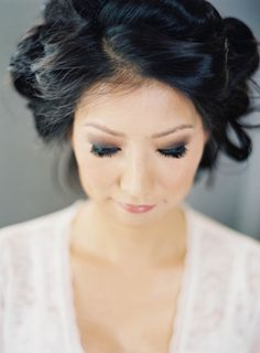 Stunning Smoky Eyes! Makeup by Vanity Pham. See this gorgeous wedding featured on Style Me Pretty:   http://www.stylemepretty.com/2014/03/10/peach-inspired-farm-wedding-at-carneros-inn/ Jen Huang Photography