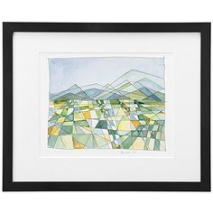 Watercolor print of a Napa Valley landscape-- gorgeous! Watercolor Print, Watercolor Paintings, Original Paintings, Milk Art, Wine Wall Art, Triangle Art, Mosaic Wall Art, Square Art, Landscape Art