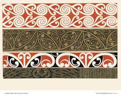 """New Zealand Art Print News: Maori Art Design Prints from Menzies """"Maori Patterns"""" released Painting Patterns, Print Patterns, Maori Patterns, Polynesian Art, Maori Designs, New Zealand Art, Nz Art, Marquesan Tattoos, Maori Art"""