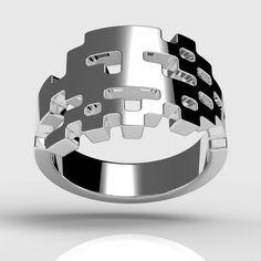 Space Invaders ring. Tjep Studio.