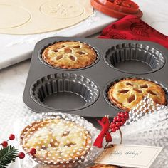 Use this pan to whip up individual mini pies.