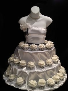 White+Couture+Cupcake+stand+for+showers.+bridal+by+theEventFairy,+$200.00