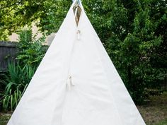 This simple canvas teepee takes just a short while to construct for hours of enjoyment.
