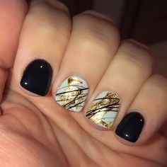 Spider gel gold foil gel manicure - New Ideas Get Nails, Fancy Nails, How To Do Nails, Pretty Nails, Hair And Nails, Foil Nails, Shellac Nails, Nail Polish, Gold Gel Nails