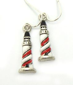 Light house fish hook earrings