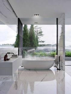 Luxury Bathroom Master Baths Dreams is unquestionably important for your home. Whether you choose the Interior Design Ideas Bathroom or Luxury Master Bathroom Ideas, you will make the best Luxury Bathroom Master Baths With Fireplace for your own life. Bad Inspiration, Interior Design Inspiration, Bathroom Inspiration, Home Interior Design, Exterior Design, Design Ideas, Interior Paint, Dream Bathrooms, Beautiful Bathrooms