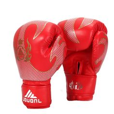 Men's Boxing Gloves in Black/Red for Muay Thai Boxing Gloves Sanda Kungfu Wushu Training Boxeo Guantes