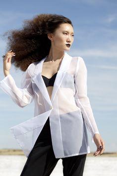 Transparent Organza blazer to add a hint of seduction to your S/S 2013 wardrobe @[ manifesto reche ] #mainfestoreche
