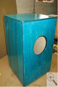 Homemade Cajón plans and information from Woodworker's Guild of America
