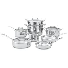 Cuisinart 13-pc. Contour Stainless Steel Cookware Set, Silver
