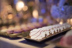 Favorite cookies with the monograms of the couple for your amazing candy bar  #weddingplannergreece