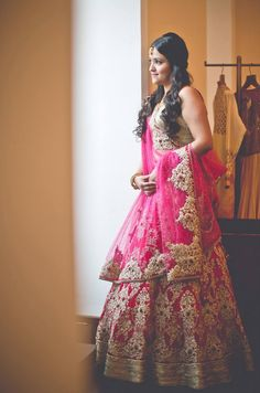 Indian Bride in a Pretty Pink Lengha