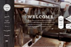 morganstreetcafe.com by Hannah Lee, via Behance -- Website - click pic to see more details