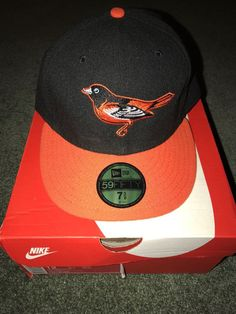 Baltimore Orioles New Era Fitted hat cap MLB Baseball size 7 3 8 2000s   c8809b809957