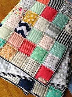 2. #Patchwork Baby Quilt - 37 #Fabric Crafts That You'll Love Sew Much ... → DIY #Crafts