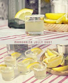 Chupito de gelatina de Margarita