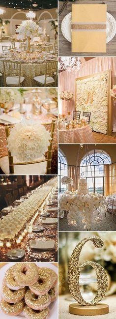 glitter gold wedding ideas for glamorous weddings