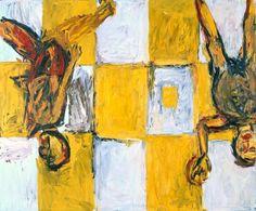 George Baselitz: Adieu - 1982. Oil on canvas. 250.9 x 298.4 cm Tate Gallery, London, England.