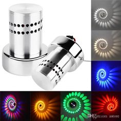 New Arrivals Spiral LED Wall Sconce Ceiling Lights Lighting Lamps Walkway Bedroom Porch Fixture Home Decor