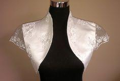 New Womens Wedding Satin Bolero Shrug Jacket Stole Short Sleeve UK Size 6-28