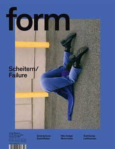form N° 276. 2018. Scheitern/Failure. Art Direction: Carolin Blöink, Susanne Heinlein, Sarah Schmitt; photo: Arielle Bobb-Willis © Verlag form GmbH & Co. KG