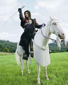 GACKT as a Samurai in a Japanese TV Series