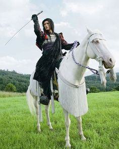 GACKT as a Samurai in a Japanese TV Series